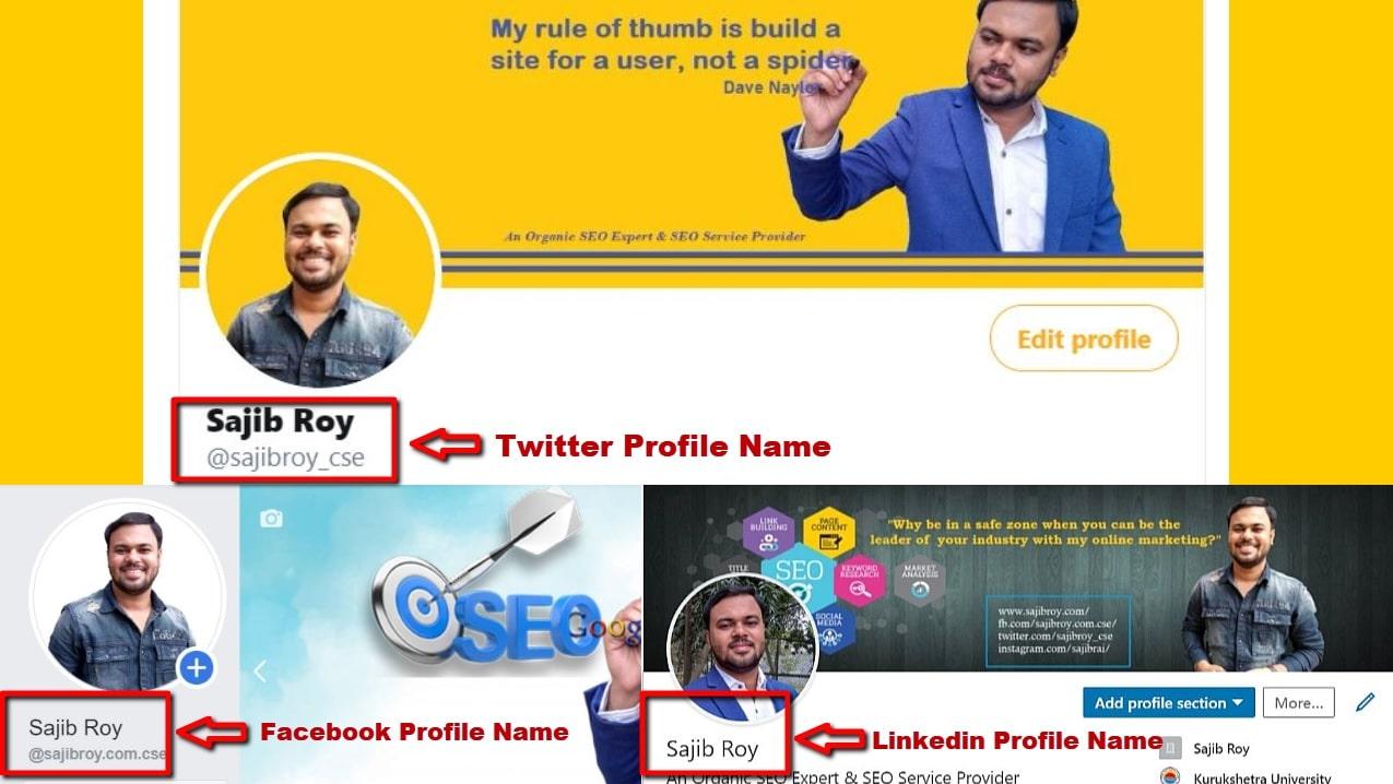 Social Media Profile Name